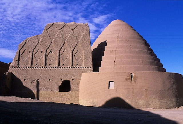 This is a circular structure made of sun baked bricks and clay. The same resembles a huge dome. This structure located in the city of Kerman, is surrounded by lush greenery and is a site for tourists. . There are several small-garden around this ice-house which were filled with the water in winter, then after that the water iced, the ices lead to the ice-house to use in summer.