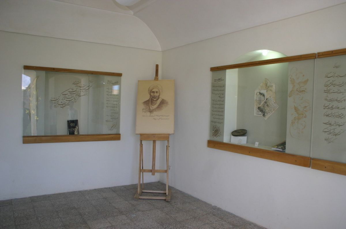 Hall of Fame Museum in a daring historic house located in the historical context of Birjand been established. The old house on the street to the establishment Khader Ali Montazeri next to the mosque is located.the financial strength of individuals and social classes is special. The building is in compliance with the principle of introversion, and a central courtyard built on two floors and has an entrance, porch, courtyard, colonnaded patio and numerous rooms. Entrance with pointed arch with decorative brickwork with geometric designs, a special beauty.Russia has its origin and architecture principles used in Islamic architecture and architecture of the building reflects the integration of alien. The museum on 1382 in this historic house and was used up. The museum collection of biographies, documents and manuscripts, books, national symbol, scientific, literary, tables, photos and personal items, Scientific and Cultural leaders like Hakim Nizari the territory of Iran, Abdul Ali Birjandi, Ibn Hossam Khoosf, Professor MH Ganji, Sheikh Hadi Hadavi, Sheikh Mohamed Ibrahim IT and is on display