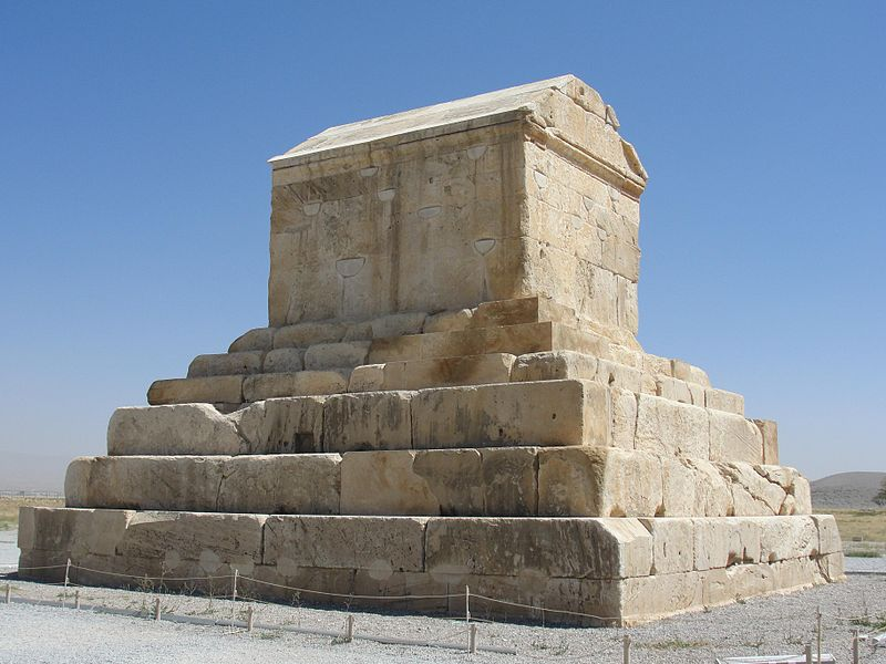 Pasargadae was the capital of the Achaemenid Empire under Cyrus the Great who had issued its construction (559–530 BC); it was also the location of his tomb. It was a city in ancient Persia, located near the city of Shiraz (in Pasargad County), and is today an archaeological site and one of Iran's UNESCO World Heritage Sites