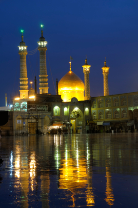 Fatimah bint Musa' al-Kadhim  known as Fatemah Mæ'sume, Masuma-e-Qum, and Hadrat Masumah  201 AH; approximately March 22, 790 AD – November 7 or 9, 816 AD),  was the daughter of the seventh Twelver Shi'ah Imam, Musa' al-Kadhim and sister of the eighth Twelver Shi'ah Imam, 'Ali ar-Ridha. Every year, thousands of Shi'i Muslims travel to Qom to honor Fatima Masumeh at her shrine and ask her for blessings.
