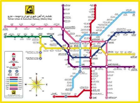 دانلود نقشه متروی تهران و حومه
