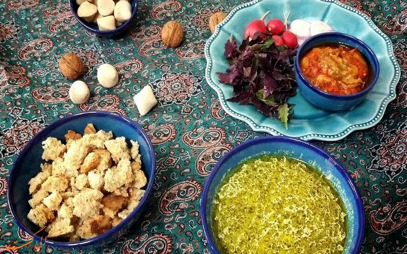 قوروت بادمجان - غذای سنتی جنوب خراسان