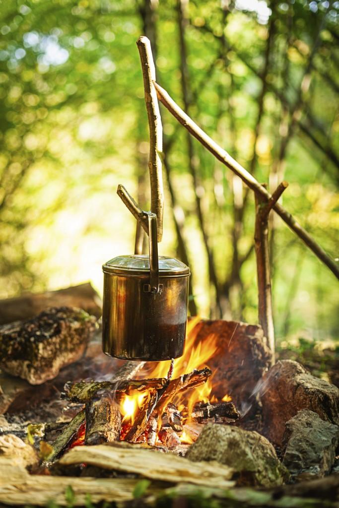 آماده کردن غذا در تور های جنگلی